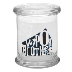 Vaporbrothers Large Pop Top Glass Jar vaporbrothers, herb jar