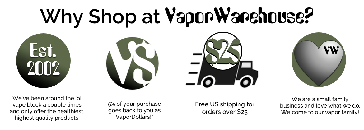 why shop at vaporwarehouse vaporizer store