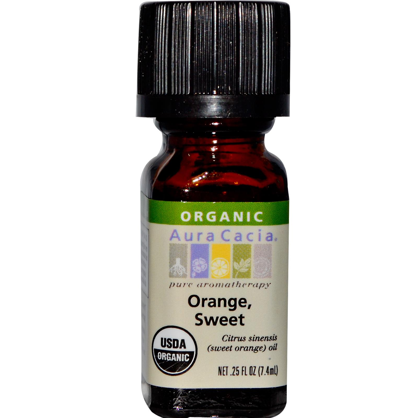 Organic Essential Oil - Aura Cacia - Orange orange organic essential oil